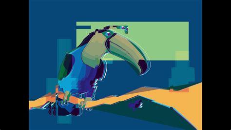 adobe illustrator toucan illustration lineart