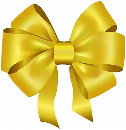 Bow Yellow Clipart Deco Ribbons Transparent Yopriceville