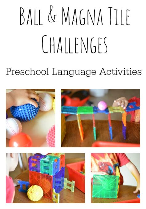 language activities for preschoolers and tile play 412 | Language Activities for Preschoolers Ball and Magna Tiles