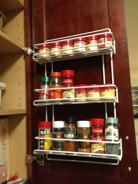 spice rack with spices kitchen organization creating a baking cabinet