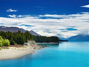 Pukaki Lake  New Zealand   Wallpapers13 Com