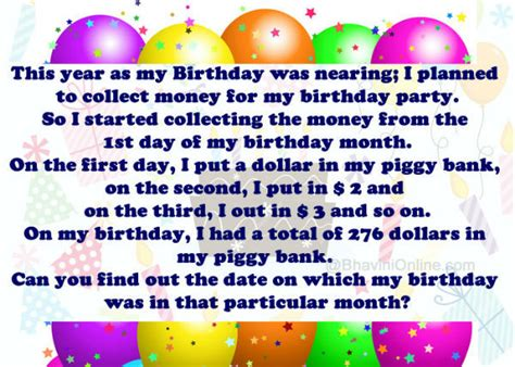 birthday riddle whatsapp riddle collection of money for birthday bhavinionline com