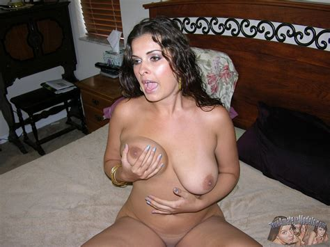 Hot Busty Amateur Babe Strips Nude And Shows Her Wet Pussy