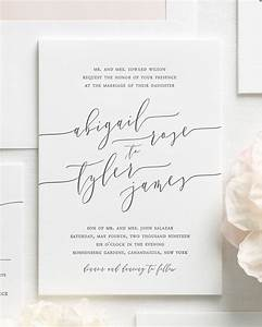 romantic calligraphy letterpress wedding invitations With calligraphy for wedding invitations do it yourself