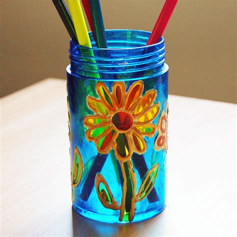stained glass jars kids crafts fun craft ideas firstpalettecom