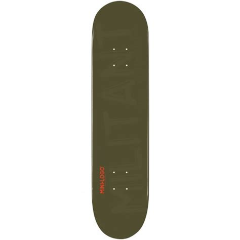 mini logo militant skateboard deck 112 green 7 75 x 31