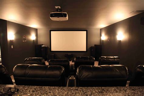 square tv screen basement home theater dilemma flatscreen or projector
