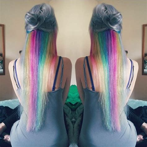 Hair Tutorial How To Dye Your Extensions A Rainbow Colour