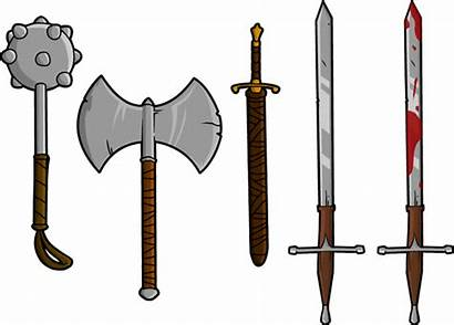 Weapon Weapons Clipart Sword Mace Axe Clip