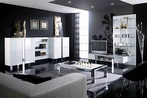 Moderne Wohnzimmer Schwarz Weiss : wohnzimmer schwarz wei fliesen wohndesign ~ Markanthonyermac.com Haus und Dekorationen