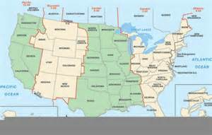 Us Time Zone Map with States