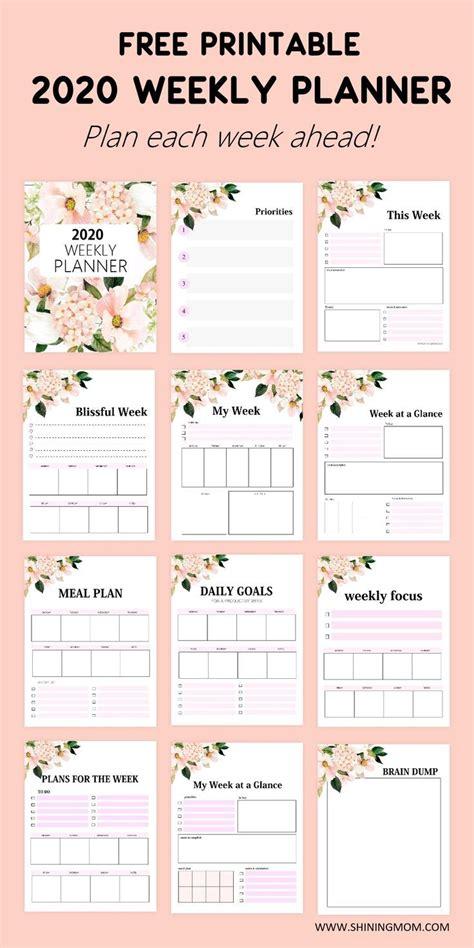 FREE Printable Weekly Planner 2020: So Beautiful in ...