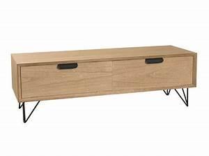 Meuble Tv Bas Et Long : meuble tv design industriel scandinave c 39 est par ici ~ Teatrodelosmanantiales.com Idées de Décoration