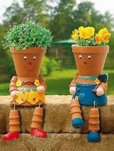 Ouvrir Un Pot De Peinture : apprenez cr er des personnages avec des pots en terre cuite pour apporter un peu d 39 originalit ~ Medecine-chirurgie-esthetiques.com Avis de Voitures