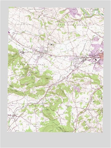 sinking spring pa topographic map topoquest