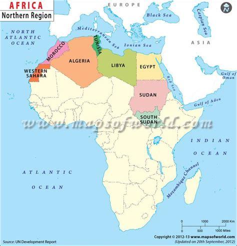 north africa   region  africa separated