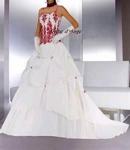 robe de mariage blanc et rouge With robe de mariée rouge avec alliance or blanc