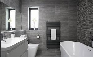 Contemporary grey bathroom in a former bedroom - Real Homes