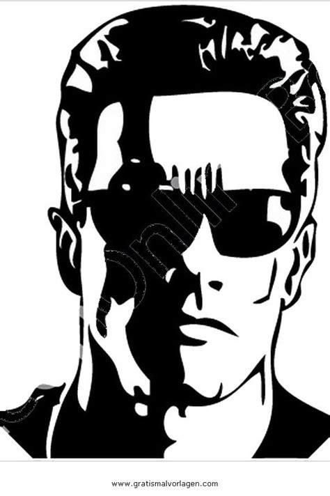 terminator  gratis malvorlage  beliebt diverse malvorlagen ausmalen