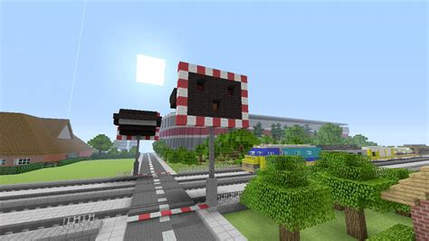 Minecraft Rail Railroad Crossing Mod