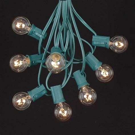 clear round bulb christmas lights clear satin g30 globe round outdoor string light set on