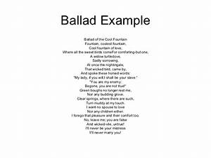Ballad Examples For Kids | www.pixshark.com - Images ...