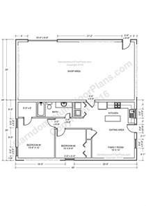 Shop House Floor Plans by Barndominium Floor Plans For Planning Your Barndominium