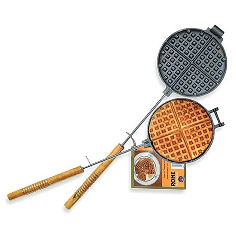 waffle iron rome cast chuck wagon industries camping cooking 1028 length campfire head chuckwagon camp fire pie walmart gear accessories