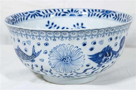 chinese blue  white bowl  fish  stdibs