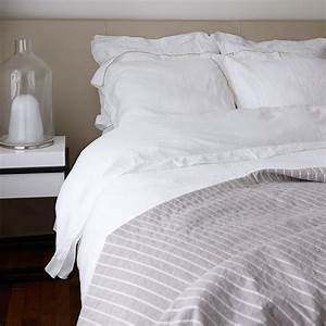 House, In, Style, Mw, Toronto, Bed, Linen, White, Taupe