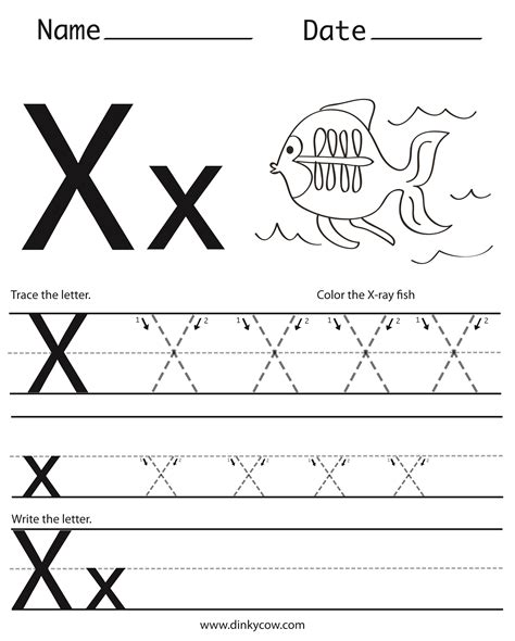 letter x kindergarten worksheets worksheets for all
