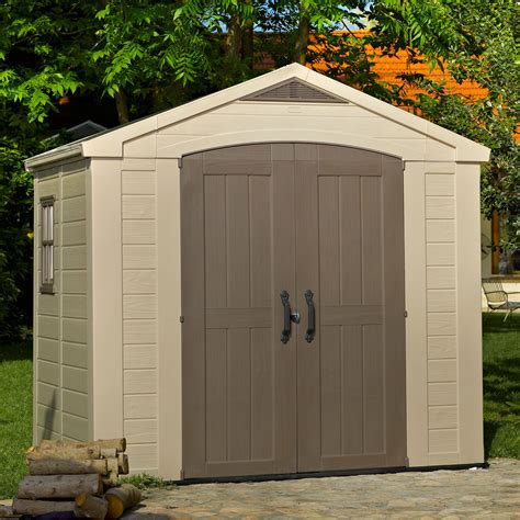 plastic sheds for 8x6 factor apex plastic shed departments diy at b q