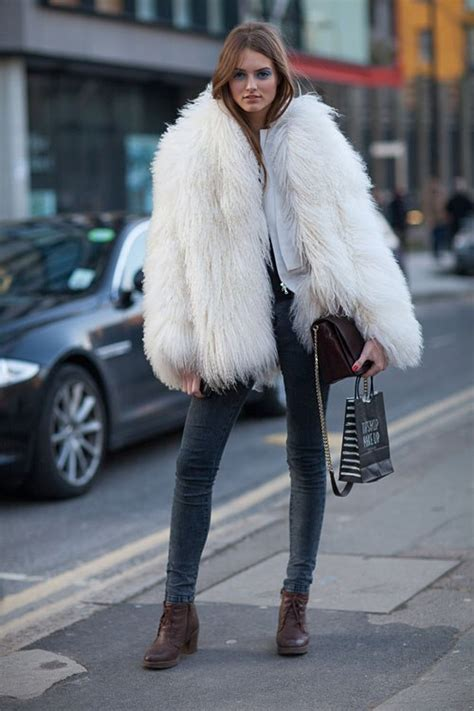 Editoru2019s Pick A Model-Approved White Fur Jacket for $149 | StyleCaster