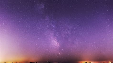 Milky Way Galaxy Purple Night Sky Hd 4k Wallpaper