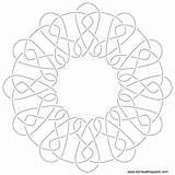 Embroidery Coloring Pattern Knotwork Patterns Fudge Knot Hand Template Paste Eat Don Pages Sketch October sketch template