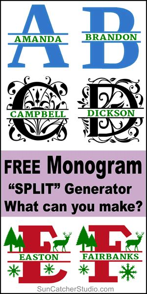 patterns monograms stencils diy projects