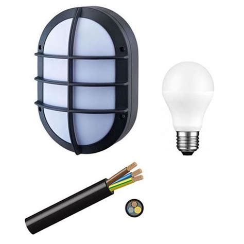 lighting bulkhead black outdoor 220v available solar