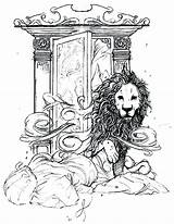 Narnia Coloring Wardrobe Lion Witch Aslan Chronicles Drawing Coloriage Come Treader Dawn Illustrations Voyage Colouring Draw Monde Craft Adult Dessin sketch template