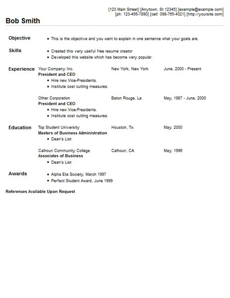 Style Resume Pic by Compact Resume Template Style 5 Resume 4 Free