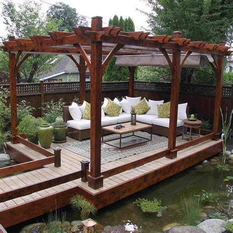 decor outdoor living with pergola canopy design ideas