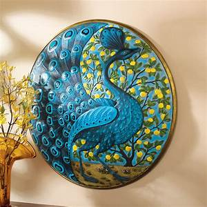 shop design toscano 22 in w x 22 in h frameless resin With peacock wall decor