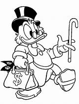 Coloring Scrooge Pages Uncle Mcduck Disney Duck Para Donald Ducktales Dollars Cane Cartoons Cartoon Mickey Tio Patinhas Desenho Desenhos Colorir sketch template