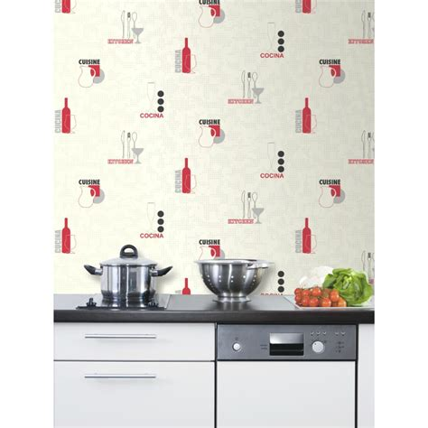 papier peint lessivable pour cuisine modele papier peint cuisine profonde en relief 3d brique