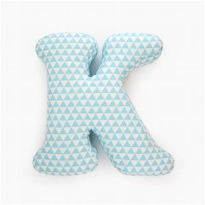 Alphabet pillow letter k alphabet pillows initials letter for Letter pillows