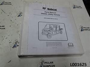Bobcat 3400xl Utility Vehicle S  N Ajnw31001