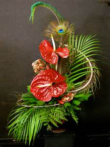 artificial floral arrangements modern lasting anthurium arrangement