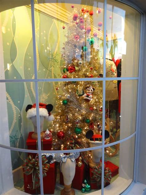 christmas  shop window displays  disneys hollywood
