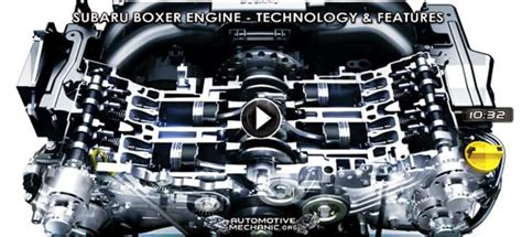 video  subaru boxer engine work technology features
