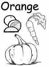 Preschool Worksheets Coloring Orange Popular Worksheet sketch template