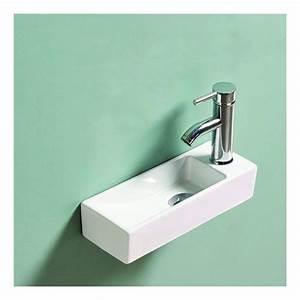 Lave Main Ceramique : lave main gain de place c ramique 38x15 cm minimalist ~ Edinachiropracticcenter.com Idées de Décoration